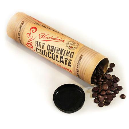 Hot Drinks - Hasslacher's Hot Chocolate Craft Tube - Easy To Melt Solid Cacao Drops (200g)
