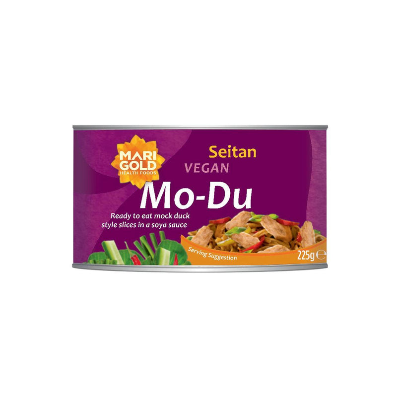 Meat Replacements - Marigold - Mo-Du (Mock Duck) - Braised Seitan Slices (225g)