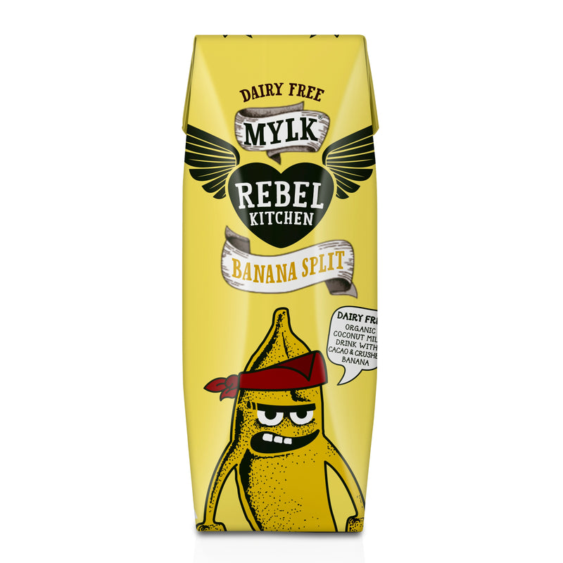 Milks - Rebel Kitchen - Coconut Mylk, Banana Split Flavour (250ml)