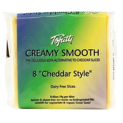Non-Dairy Slices - Tofutti Creamy Smooth Slices, Cheddar Style (8 Slices)