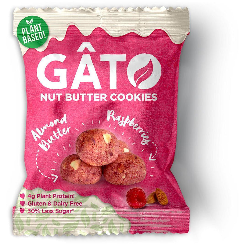 Other Snacks - Gato - Almond Butter & Raspberry Gluten Free Cookies (33g)