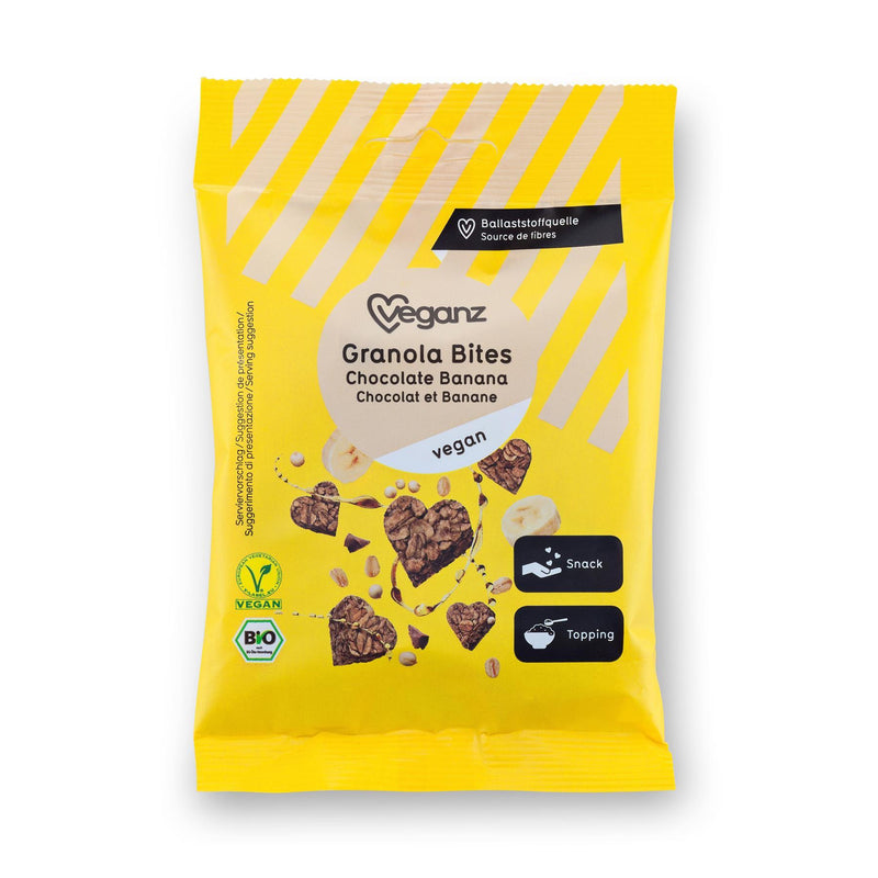 Other Snacks - Veganz - Organic Granola Bites Chocolate Banana (50g)