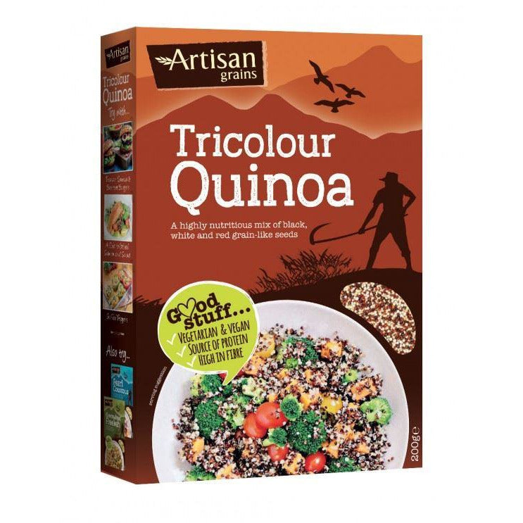 Pasta, Rice & Wholefoods - Artisan Grains - Tri Colour Quinoa (200g)