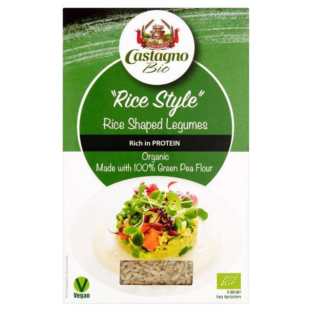 Pasta, Rice & Wholefoods - Castagno - Organic Rice Style Legume - Green Pea (250g)