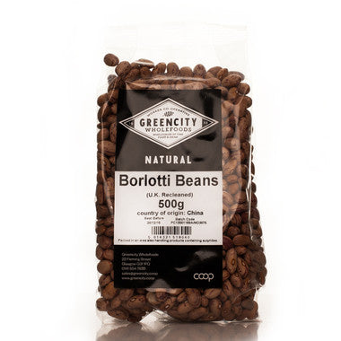 Pastas, Grains & Pulses - Green City - Borlotti Beans (500g)