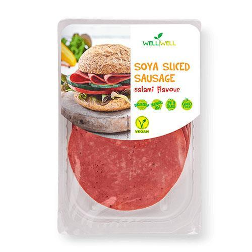 Sandwich Slices - Well Well - Soya Sliced Sausage - Salami Flavour (100g)