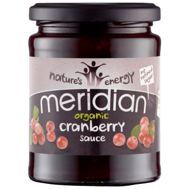 Sauces & Stocks - Meridian Organic Cranberry Sauce (284g)