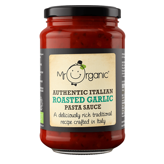 Sauces & Stocks - Mr Organic Authentic Italian Roasted Garlic Pasta Sauce (350g)