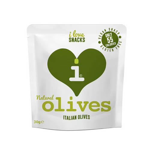 Savoury Snacking - I Love Snacks - Natural Italian Olives (30g)