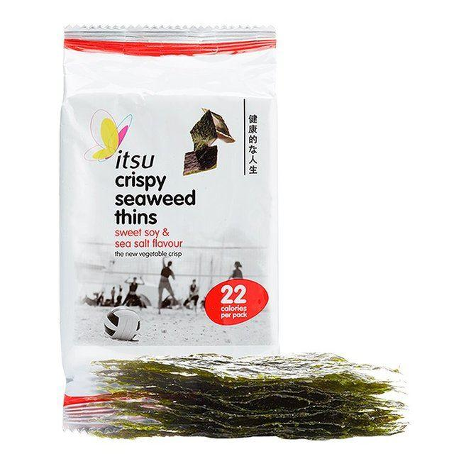 Savoury Snacking - Itsu - Crispy Seaweed Thins - Soy & Sea Salt (5g)