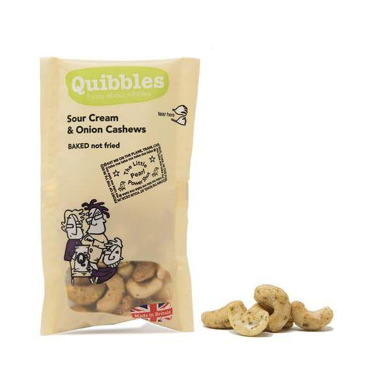 Savoury Snacking - Quibbles - Sour Cream & Onion Cashews (30g)