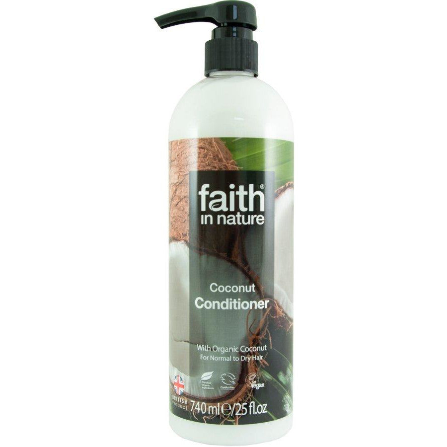 Shampoos & Conditioners - XL Faith In Nature Coconut Conditioner (With Hand Pump) (740ml)
