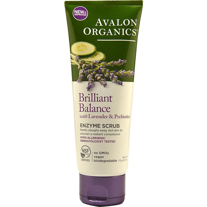 Skin Care - Face - Avalon Organics Brilliant Balance With Lavender & Prebiotics Enzyme Scrub (113g)