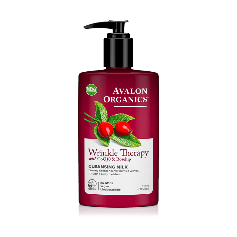 Skin Care - Face - Avalon Organics Wrinkle Therapy With CoQ10 & Rosehip Cleansing Milk (251ml)