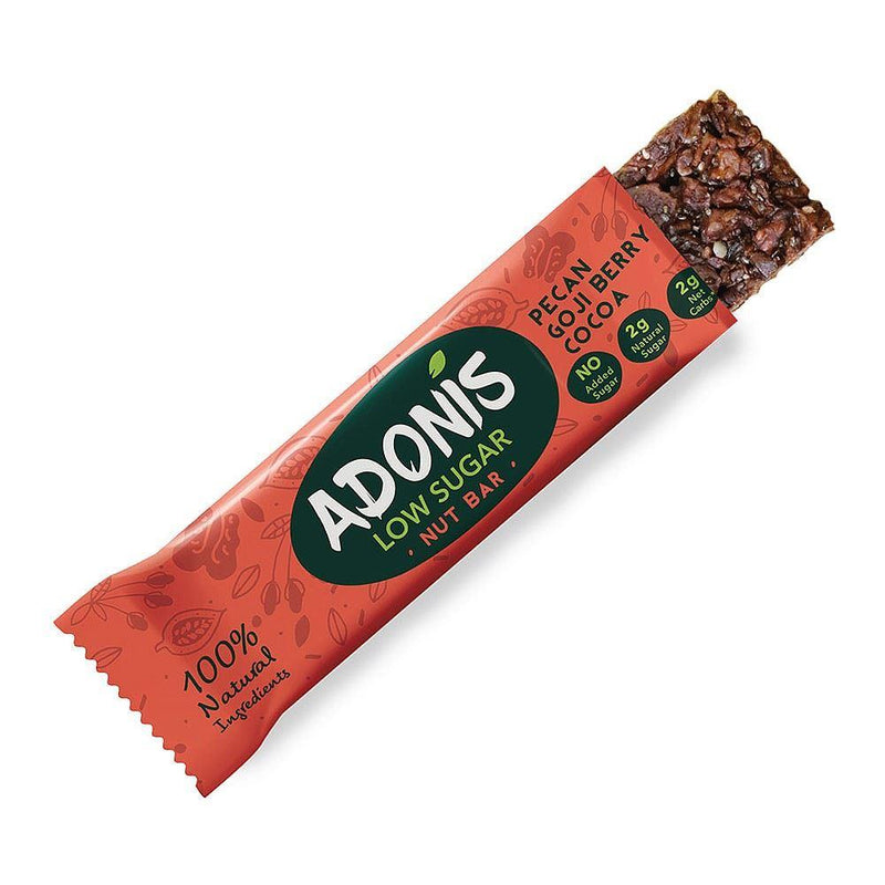 Snack Bars - Adonis - Natural Low Sugar Pecan Nut Bar (35g)