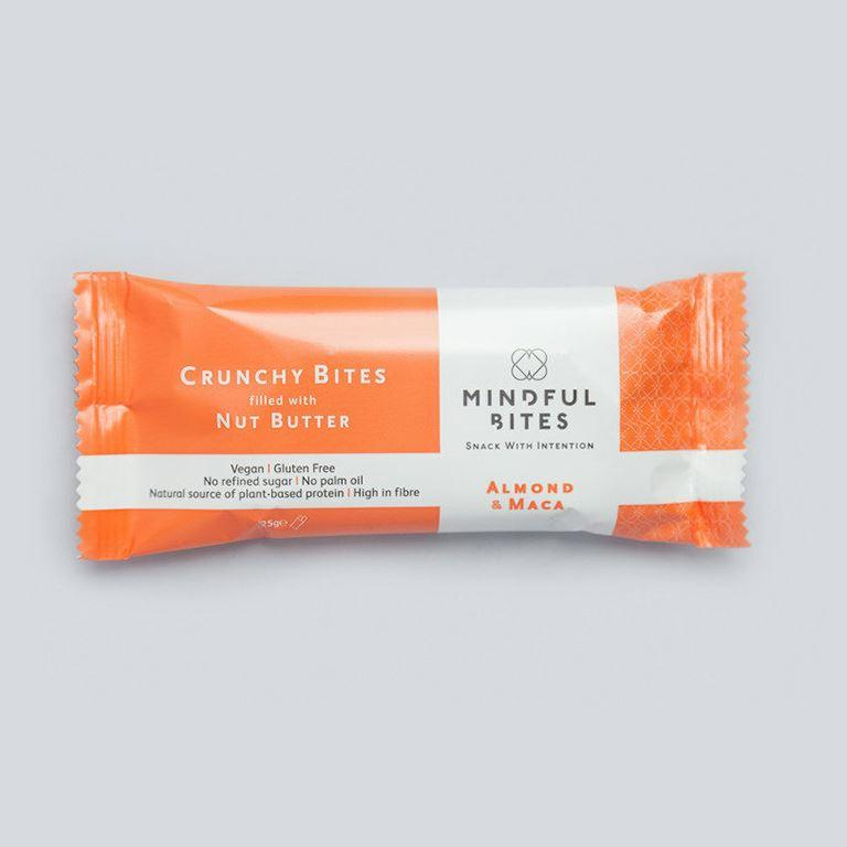 Snack Bars - Mindful Bites - Crunchy Bites Filled With Nut Butter - Almond & Maca (25g)