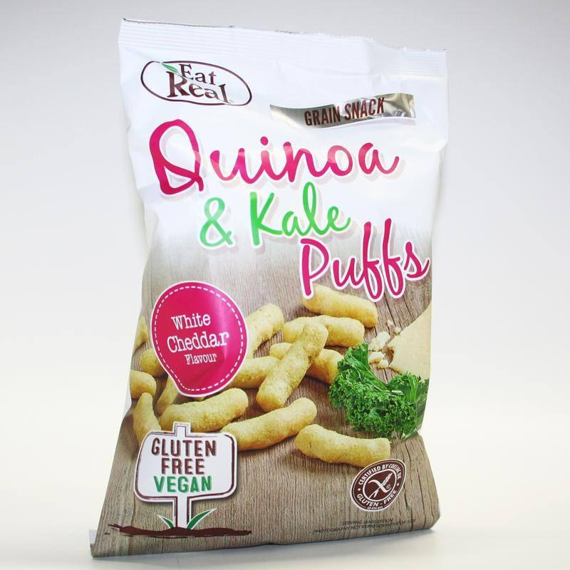 Eat Real White Cheddar Quinoa & Kale Puffs (113g) - TheVeganKind