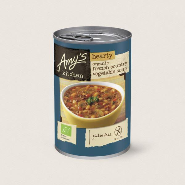 Soups - Amy's Kitchen - Organic Hearty French Country Vegetable Soup (408g)