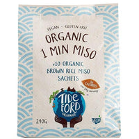 Soups - Tideford - Organic Brown Rice Miso Sachets (10x24g)