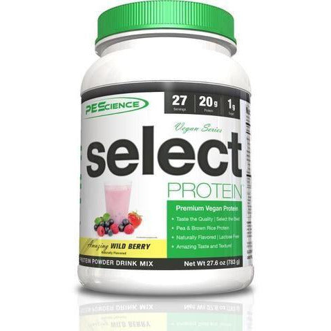 Sports Supplements - PEScience - Select Protein Vegan Series - Amazing Wild Berry (783g)