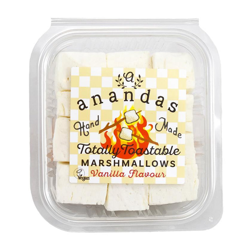 Sweets - Ananda's - Vegan Totally Toastable Vanilla Marshmallows In Re-Sealable Tub (135g)