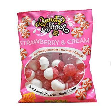 Sweets - Candyshack - Sugar Free Strawberries & Cream (120g)