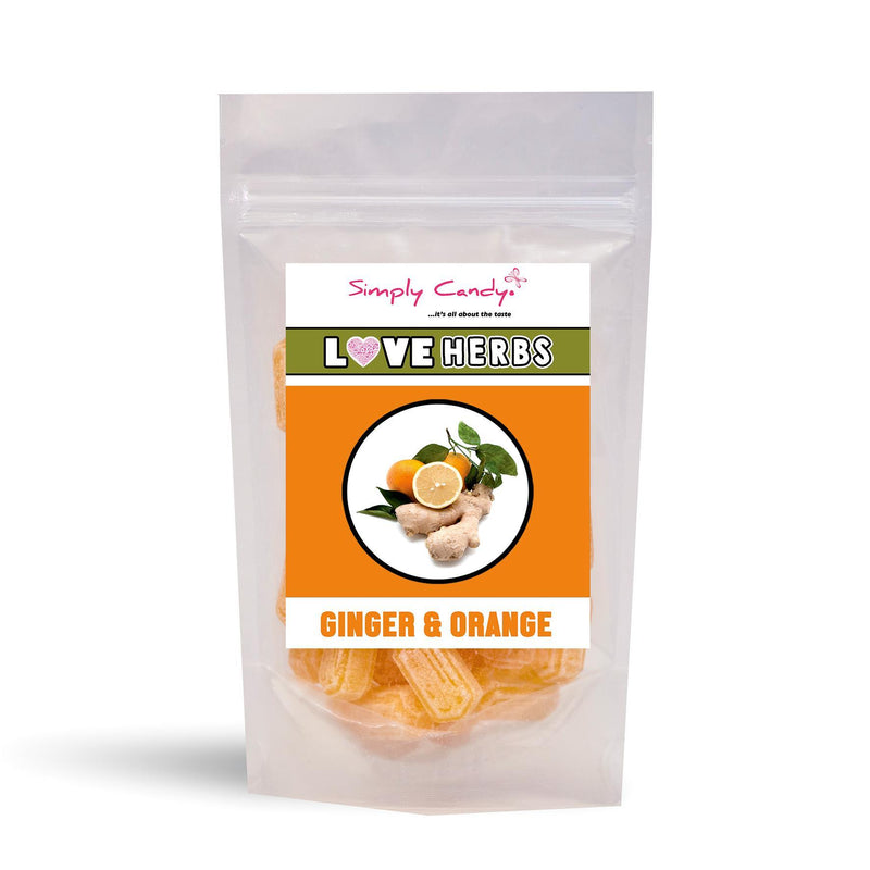 Sweets - Simply Candy - Ginger & Orange Candies (150g)