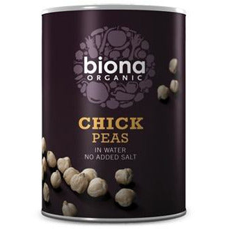 Tinned Fruit & Vegetables - Biona Organic Tinned Chickpeas (400g)