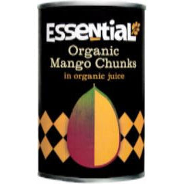 Tinned Fruit & Vegetables - Essential Trading Organic Mango Chunks In Juice (400g)