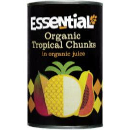 Tinned Fruit & Vegetables - Essential Trading Organic Tropical Chunks In Juice (400g)