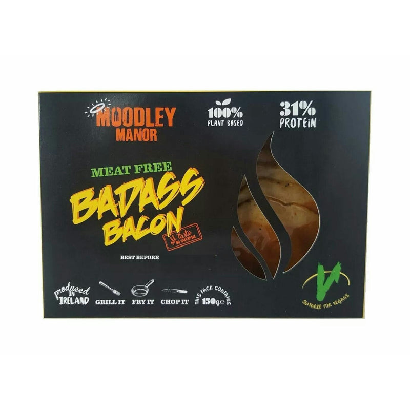 (Best before 24/06/2018) Moodley Manor Badass Bacon (150g) - TheVeganKind