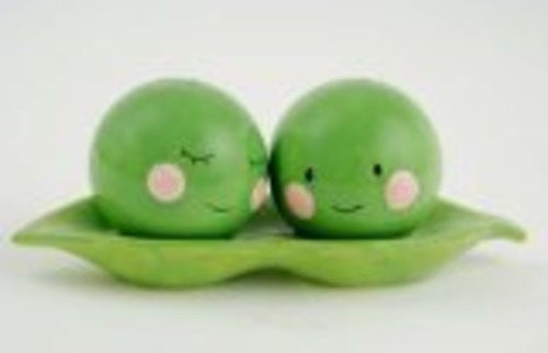 Two Peas in a Pod Magnetic Salt and Pepper Set