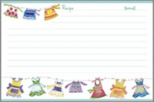 Gina B. Designs Aprons Recipe Cards