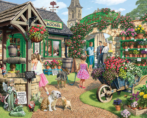 White Mountain Puzzles The Garden Shop - 1000 Piece Jigsaw Puzzle