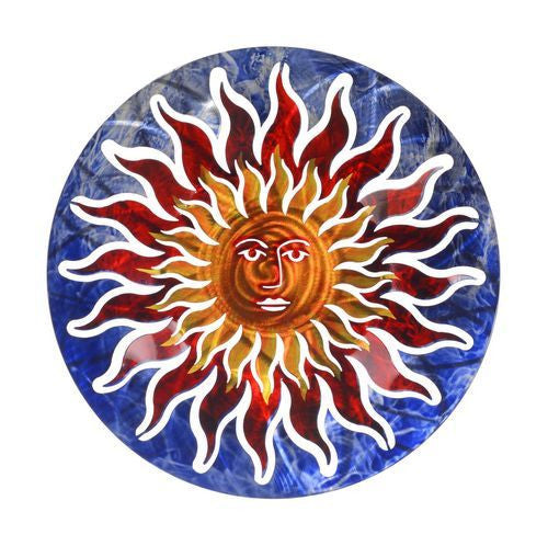Next Innovations WA3DSUNFACEBL/RD Sun Face Refraxions 3D Wall Art, Blue and Red