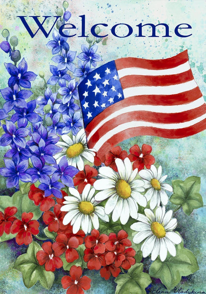 Toland Home Garden Patriotic Welcome Garden Flag