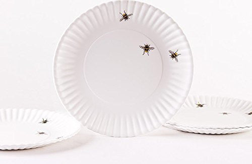 "Bees 9"" Melamine Plates, Set of 4"