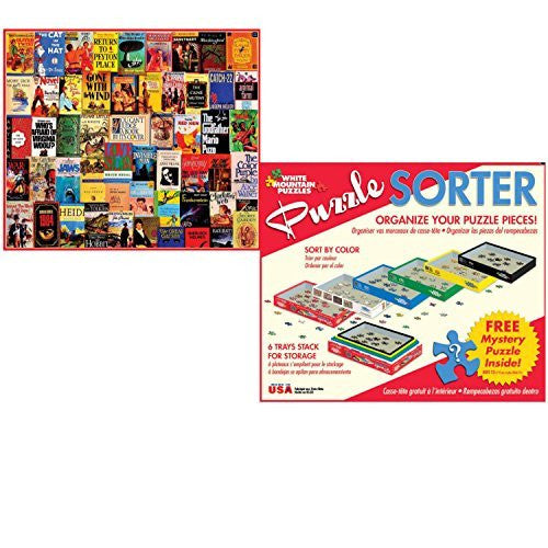 White Mountain Puzzles 1000 Piece Best Sellers Adult Jigsaw Puzzle with Puzzle Accessories including 6 Puzzle Sorter Trays and Mystery Puzzle