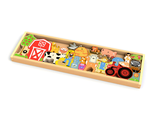 BeginAgain Farm A to Z Puzzle and Playset