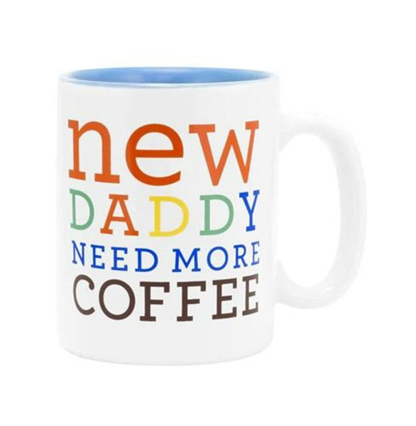 About Face Designs New Daddy Coffee Mug 12oz Ceramic