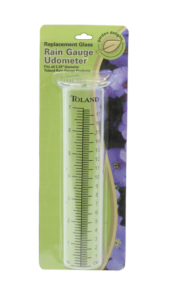 Toland Home Garden Glass Replacement Decorative Rain Gauge Statue Tube Udometer with Large Printed Numbers