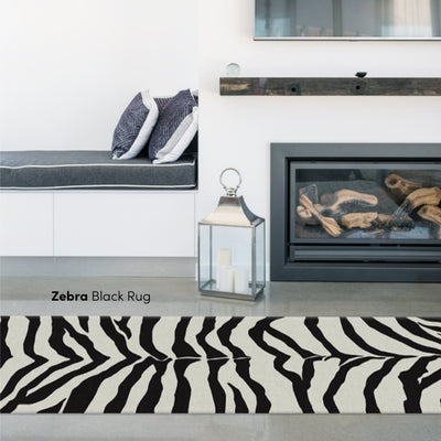 6 Chic Black and White Rugs and How to Style Them Image
