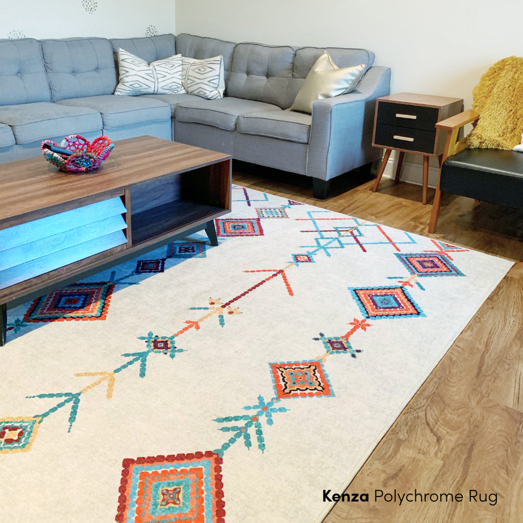 Kenza Polychrome Rug Living Room