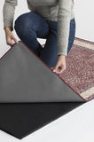 Machine Washable 2.5'x7' Afshan Merlot Rug Rug