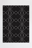 Machine Washable 5'x7' Amalia Black Rug Rug