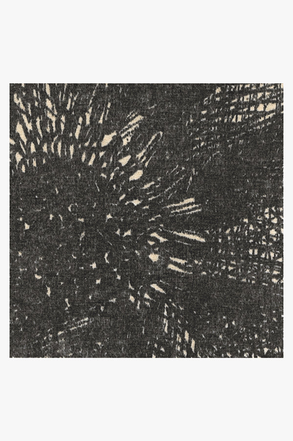Machine Washable 2.5'x7' Aprilios Charcoal Rug