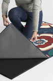 Machine Washable 2.5'x7' Audrey Navy Rug Rug