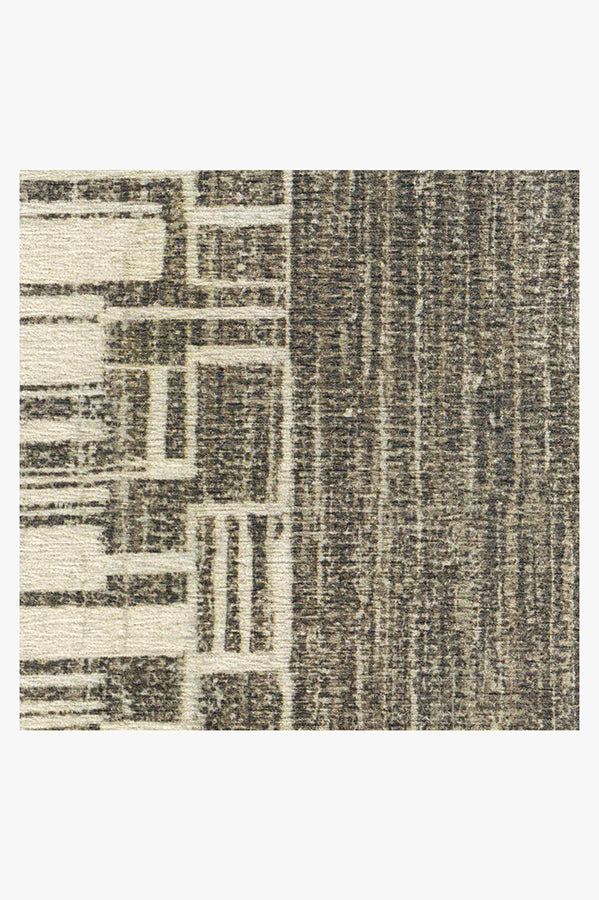 Machine Washable 2.5'x7' Beni Warm Grey Rug