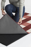 Machine Washable 2.5'x7' Buffalo Plaid Red & White Rug Rug
