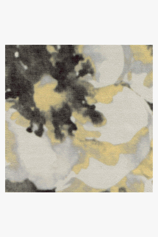 Machine Washable 5'x7' Buttercup Yellow Rug